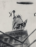 Graf Zeppelin over Statue of Liberty