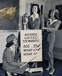 Checking the Specifications for United Airlines Stewardesses