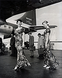 "Northwest Orient Airline Hostesses Model New ""Holomumus"" Dress Uniforms"