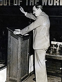 Earl Browder Makes A Speech