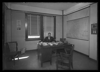 Unidentified office at the old 1914 Nueces County Courthouse