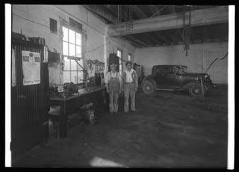 Unidentified auto repair shop