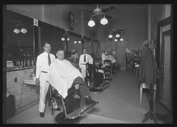 Nueces Hotel barber shop