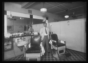 Unidentified barber shop